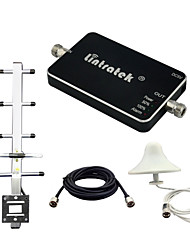 Lintratek® Repeater DCS 1800 Mini Size Signal Booster Signal GSM 1800 MHz 65dB Gain LED Cell Phone Repeater Yagi Antennas Full Kits