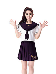 Cheering Squad Costumes Solid Top / Skirt