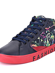 Femme-Décontracté-Noir / BleuConfort-Sneakers-Synthétique