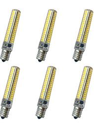 12W E14 / E12 / E17 / E11 Ampoules Maïs LED T 136LED SMD 5730 850-900LM lm Blanc Chaud / Blanc Froid Décorative AC110 / AC220 V 6 pièces
