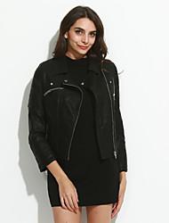 Jaqueta de couro para motocicletas / feminina