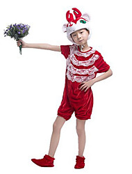 Cosplay Costumes Animal Festival/Holiday Halloween Costumes Red Patchwork Leotard/Onesie / More Accessories Christmas Kid Terylene