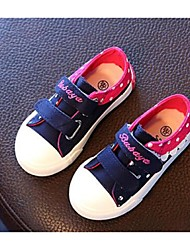 Girl's Sneakers Comfort Canvas Casual Blue Fuchsia Royal Blue