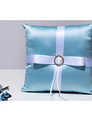 Blau 1 Schleifen Schleife Kristallsteine Satin