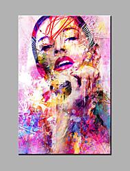 Ручная роспись Абстракция Абстрактные портреты Картины маслом,Modern Классика 1 панель Холст Hang-роспись маслом For Украшение дома