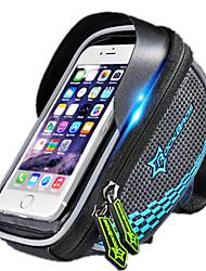 Bike BagBike Handlebar Bag Waterproof Waterproof Zipper Wearable Phone/Iphone Breathable Touch Screen Shockproof Bicycle Bag NylonCycle