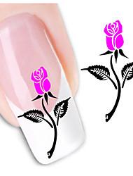 1sheet  Water Transfer Nail Art Sticker Decal XF1425