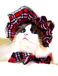 Gatos / Cães Bandanas e Chapéus Vermelho / Preto Roupas para Cães Inverno / Verão / Primavera/Outono RiscasFofo / Clássico / Dia Das