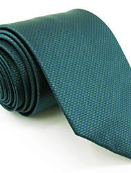 Mens Necktie Tie Dark Turquoise Solid 100% Silk Business Dress Fashion For Men