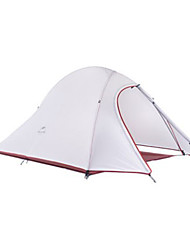 NatureHike® 2 Pessoas Tenda Duplo Barraca de acampamento >3000mm Alúminio Poliéster SiliconeÁ Prova de Humidade Respirabilidade Ultra
