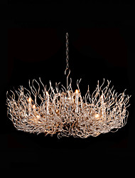Aluminum Chandelier   Modern/Contemporary Nickel Feature for Designers Metal Dining Room / Study Room/Office