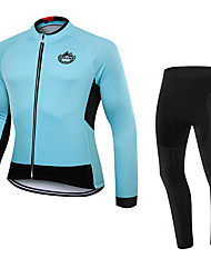 WOLFKEI Spring/Summer/Autumn Long Sleeve Cycling JerseyLong Tights Ropa Ciclismo Cycling Clothing Suits #WK86