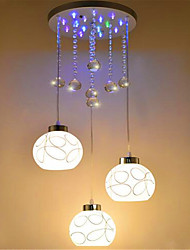 Pendant Light ,  Modern/Contemporary Electroplated Feature for Crystal LED Designers MetalLiving Room Bedroom Dining Room Study