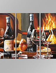 VISUAL STAR®3 panels Framed Wine Wall Art For Kitchen Painting Pictures Print On Canvas Food The Picture For Home Modern Decoration