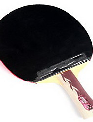 4 étoiles Ping Pang/Tennis de table Raquettes Ping Pang Couleur bois Long Manche Boutons