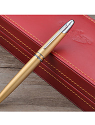 Gold Steel Pen 100 14K Gold Pen Gift Box Set Classic Press Gall Core