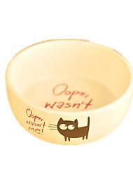 Cat Dog Feeders Pet Bowls & Feeding Casual/Daily White Ceramic