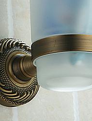 Tooth Brush Holder,Single Cup Antique Brass Color Aluminium Material,Bathroom Accessory