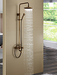 High Quality Antique Brass Bathroom Shower Faucet Set