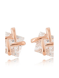 Stud Earrings Zircon Cubic Zirconia Alloy Fashion Gold Silver Champagne Jewelry Daily 1 pair