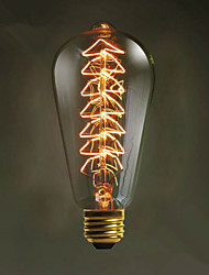 e27 arbre de noël source de lumière Edison créatif ST64 40w