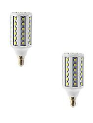 15W E14 Ampoules Maïs LED T 86 SMD 5050 960 lm Blanc Chaud AC 100-240 V 2 pièces