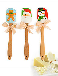 Baking & Pastry Spatula For Cake Silicone Wood Christmas Holiday