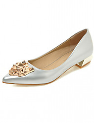 Women's Heels Spring Fall Comfort Leatherette Office & Career Dress Casual Low Heel Sparkling Glitter Blue Silver Gray