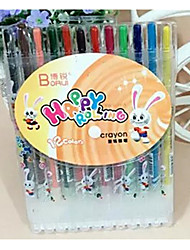 12-Color Rotating Crayons Non-Toxic Children'S Crayons 12-Color Child Pen Can Be Washed