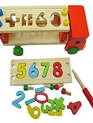 Blocs de Construction Jouet Educatif Pour cadeau Blocs de Construction Loisirs Camion Bois 2 à 4 ans Arc-en-ciel Jouets
