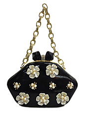 Women Patent Leather Formal / Event/Party / Wedding Evening Bag/Flower Clutch Purse