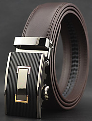 Men High Quality Automatic Buckle Business Waist Belt Work / Casual Alloy / Leather Brown All Seasons
