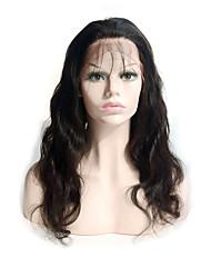 peluca de encaje 10-24brazilian onda del cuerpo virgen llena del cordón del pelo humano con el pelo del bebé línea de cabello natural para