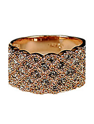 Band Rings Rhinestone Alloy Fashion Gold Silver Jewelry Party 1pc