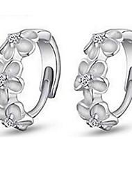 Women's Hoop Earrings Fashion Luxury Sterling Silver Imitation Diamond Jewelry For Party