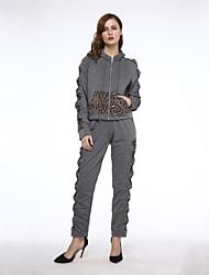 Damen Hoodies  -  Leger Langarm Polyester Medium