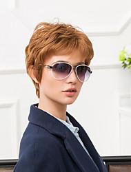nouveau court capless mode perruques de cheveux humains onduleux naturel