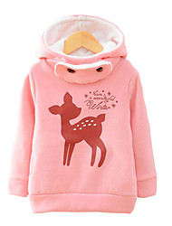 Girl's Cotton Cartoon Deer Fashion Spring/Fall/Winter Going out/Casual/Daily Warm Thickness Children Hoodies Sweater