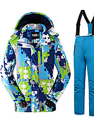 Ski Wear Clothing Sets/Suits Men's Winter Wear Polyester Classic Fashion Winter Clothing Thermal / Warm Comfortable SnowsportsFall/Autumn