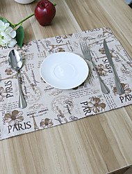 Square Patchwork Patterned Placemat , Cotton Blend Material Hotel Dining Table Table Decoration