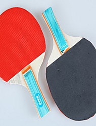 Table Tennis Rackets Ping Pang Wood Long Handle Pimples Indoor-#