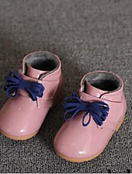 Girl's Baby Boots Comfort Leatherette Casual Black Pink
