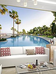 Art Decó / 3D Fondo de pantalla Para el hogar Contemporáneo Revestimiento de pared , Lienzo Material adhesiva requerida Mural ,