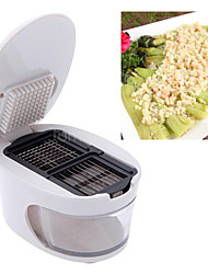 3 in 1 Plastic Garlic Press Presser Crusher Slicer Grater Dicing Slicing Storage multifunction Kitchen Vegetable Tool