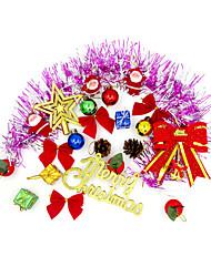 Рождественский декор Товары для Рождественской вечеринки Товары для отпуска 1Pcs Рождество Текстиль Радужный Серебристый