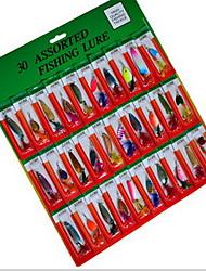 """30 pcs Harte Fischköder Angelköder Harte Fischköder Verschiedene Farben 3.2 g/1/8 Unze mm/2-5/8"""" Zoll,Fester Kunststoff PE(Polyethylen)"""