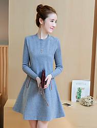 signent une nouvelle korean manches longues 2016 hiver robe de laine fine une jupe mot