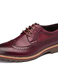 Chaussures Hommes Mariage / Extérieure / Bureau & Travail / Décontracté / Soirée & Evénement Noir / Bordeaux Cuir Richelieu