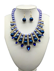 Jewelry 1 Necklace 1 Pair of Earrings Pearl Daily Pearl 1set Women As Per Picture Wedding Gifts