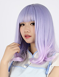Sweet Lolita Color Gradient Curly Light Purple Lolita Wig 40cm CM Cosplay Wigs Wig For Women